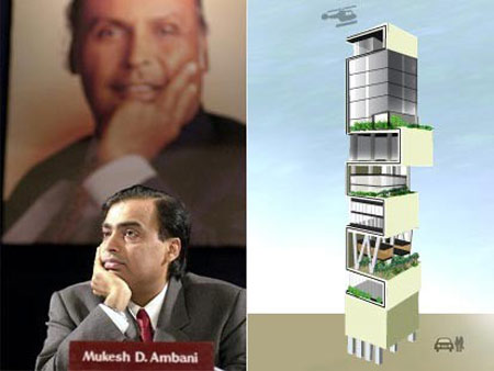 Antilia: India's Richest Man Builds $1 Billion House