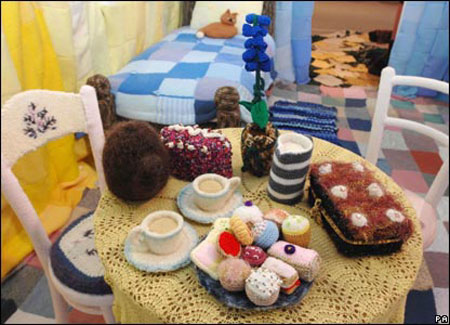 Hand-Knitted Home Raises Charity