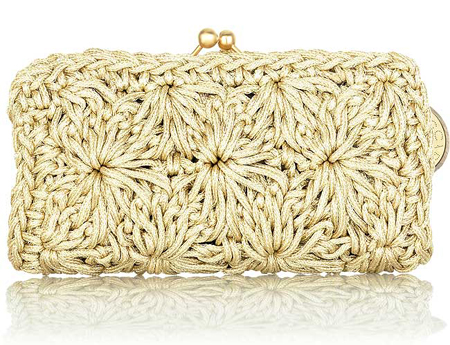 Elite Handbag: Raffia Frame Clutch