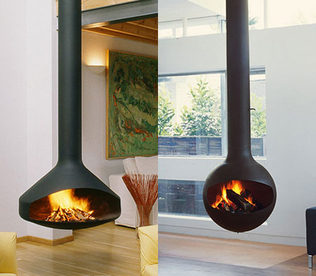 Trendy Suspended Fireplace for 2008