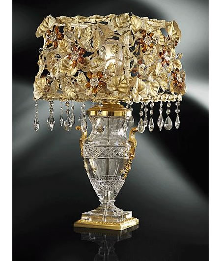 Clear Crystal Tiepolo Table Lamp