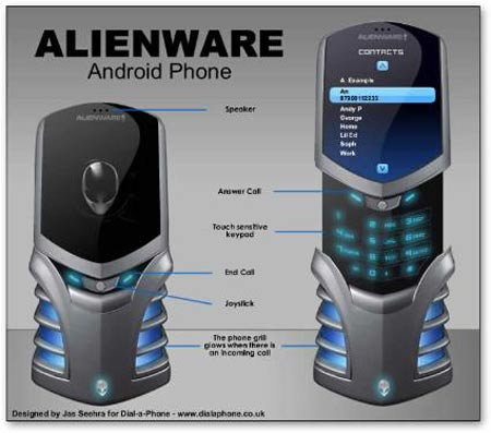 alienware mockup1 Dell Eyes Alienware Phone Mock Ups, Replicates PC