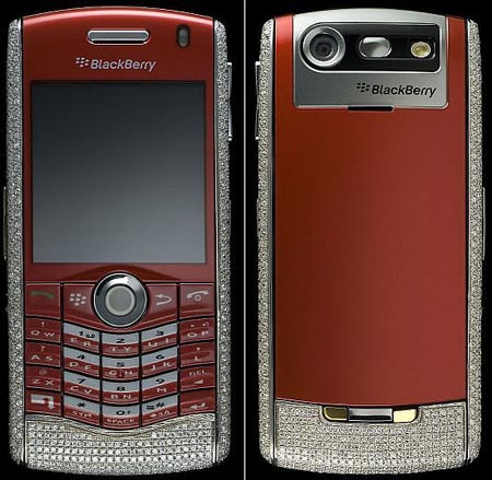Amosu Presents Diamond Encrusted Blackberry Pearl Edition