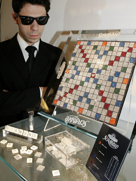 Swarovski Encrusted Scrabble Board for $20,000
