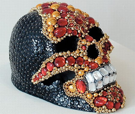 Amy Sarkisian Unveils Skulls Rooted with Gold and Ruby