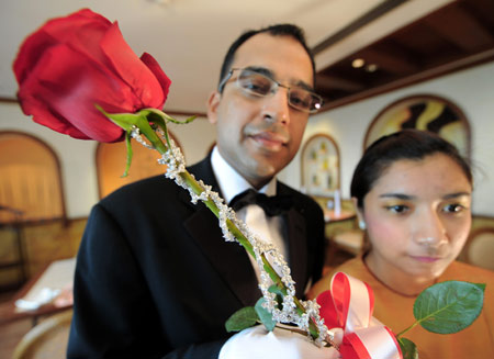 Celebrating Belated V-Day with World's Most Expensive Red Rose