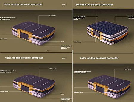 Solar Powered Notebook Concept With Built-In GPS, Satellite Phone