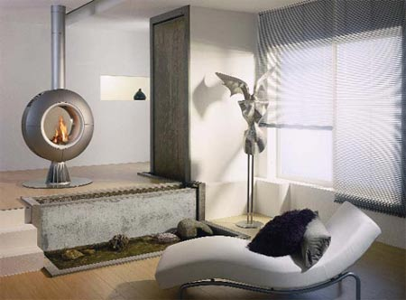 Diva Gas Fireplace: Spartherm Unveils Remote Controlled Rotating Fireplace