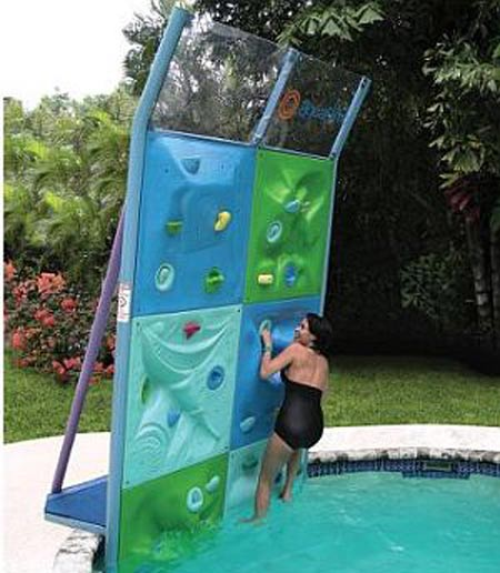 Aquatic Climbing Wall Offers An Exciting Workout!