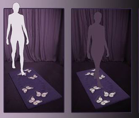 Glow Rug: Ramp Beams With Every Footstep!