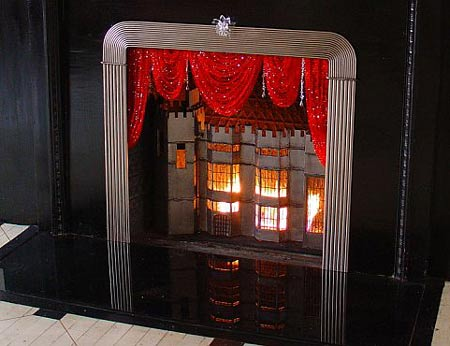 Justen Ladda Designs Swarovski Crystal Fireplace