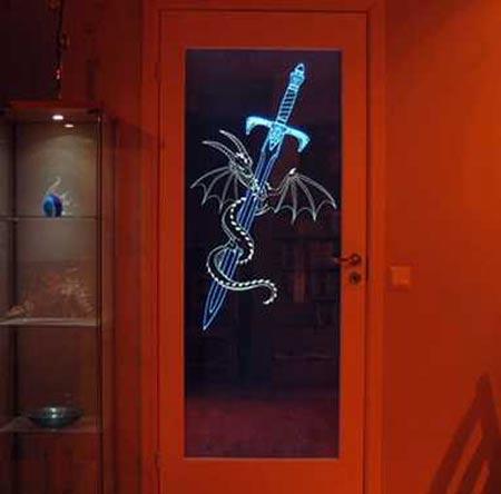 LED Glass Door