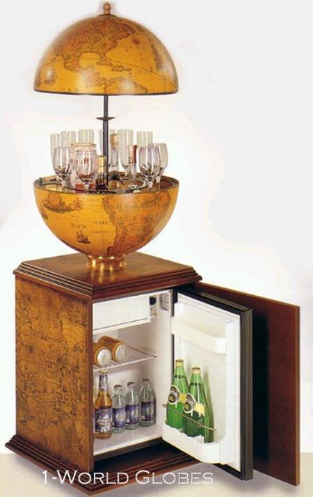 bar globe refrigerator