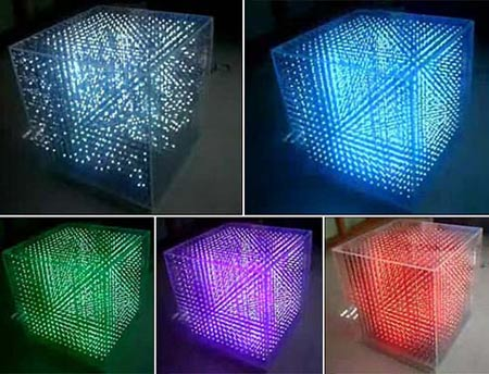 3D LED Cube Prototype