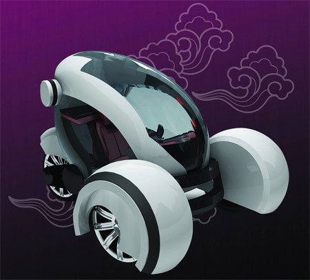 Airwaves: Futuristic Compact City Car Concept
