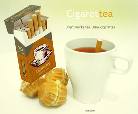 Drinking Cigarette Tea