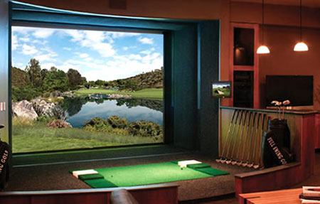 $55,000 Full Swing Golf Simulator Loves Being At Home