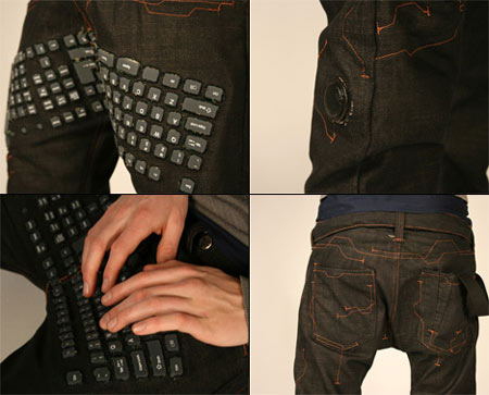 Keyboard Pants For Serious Geeks, Designer, Erik De Nijs, keyboard Pants, Geeky Pants, Pants, Geeks, Fashion, Apparels, Technology, Designer, Gadgets, Computer