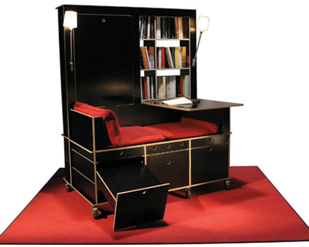 lese lebe all in one lounge table and bookshelf. Black Bedroom Furniture Sets. Home Design Ideas