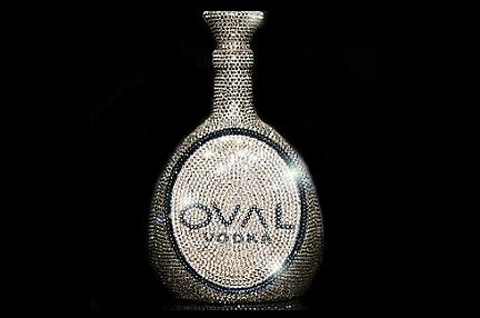 oval swarovski crystal vodka 1 OVAL Swarovski Crystal Vodka bottle