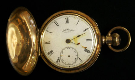 Gold Plated Waltham American Pocket Watch Up For Auction