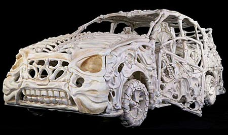 Jitish Kallat Designs Skeleton Car