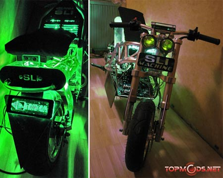 sli machine Computer Bike: NVIDIA Motorcycle Casemod Touts to be the Fastest Computer