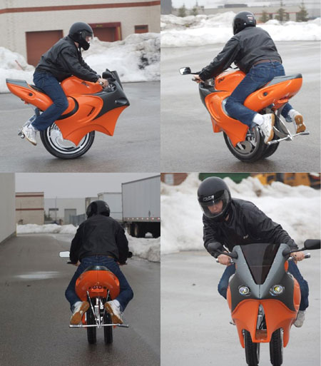 The Uno: One Wheeled Motorcycle?