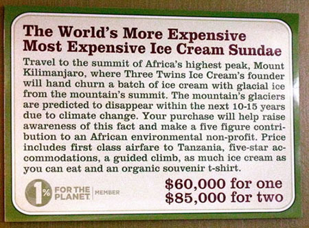 World's More Expensive Most Expensive Ice Cream Sundae Costs $60,000 Most Expensive Ice Cream, The Three Twins, Ice Cream Shop, Napa, Sundae, Most Expensive Sundae, Expensive Food