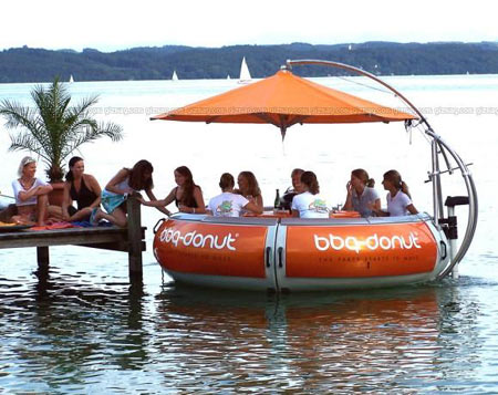 BBQ Donut: Dine Over Floating Restaurant Table