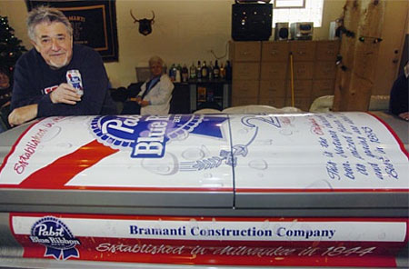 Beer Can coffin For Die Hard Boozers Beer, Beer can coffin, Coffin, Death, Gadgets, Pabst Blue Ribbon beer