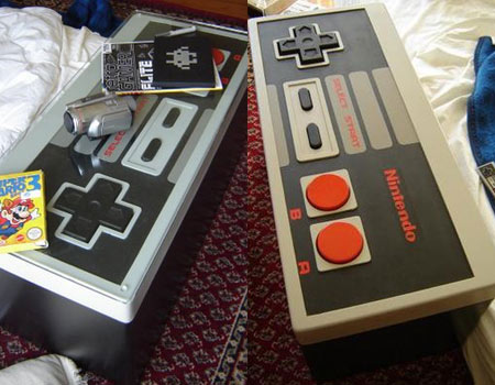 NES Controlled Mod; Most Funny Coffee Table Ever NES Controlled Mod, Coffee table, NES controller, Kyle Downes, Designer, Technology, Furniture