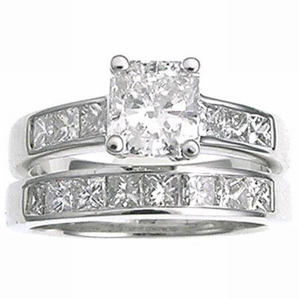 diamond-engagement-ring-3 Twosome Awesome: Platinum diamond-Studded Rings