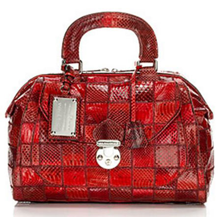 Elite Handbag: Red Satchel For The Sensual You Dolce & Gabbana, genuine snakeskin, Elite Handbag, Handbags, Designer