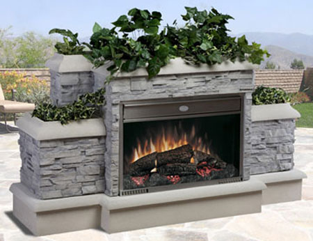 Dimplex Outdoor Electric Fireplace Is Ultra Revolutionary