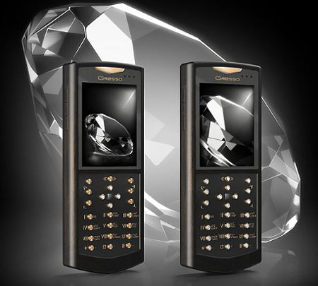 $52,000 Royal White Diamonds Phone by Gresso