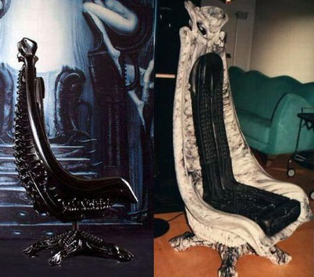 HR Giger Harkonnen Chair Is Truly Artistic Yet Realistic