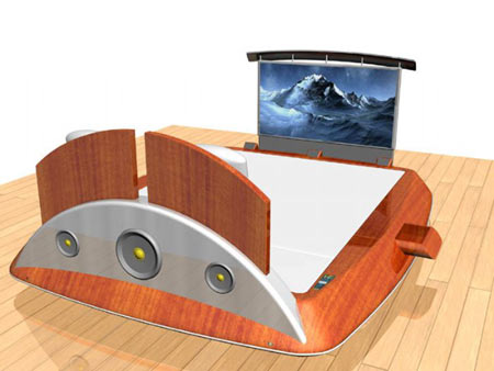 From Bed With Love: A Digital James Bond's Bed by Nicolas Mélan