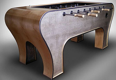 $9,500 Foosball Table by Jared Arp Is Seriously Elite And Only One!  Foosball, Foosball table, luxury, Jared Arp, Designer, Entertainment, Designer, Furniture