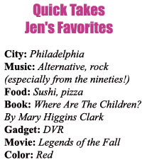 jen favorites1 Elite Blogger: Rendezvous With Jennifer L. DeLeo