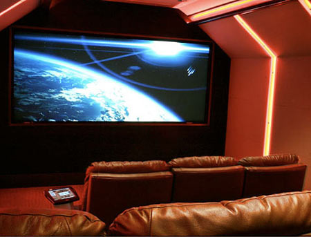$250,000 LED-Lit Home Theater Enhances Your Ambiance