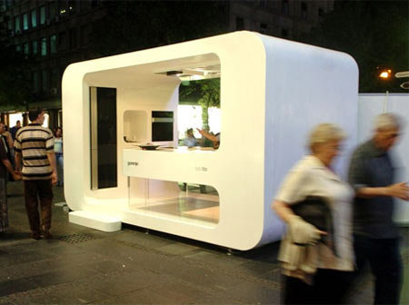 Geronje Ora-Ito Mobile Kitchen Prototype; Installed It On Roof or Outdoor