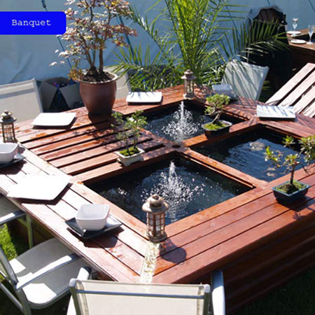 Pondable Garden Table