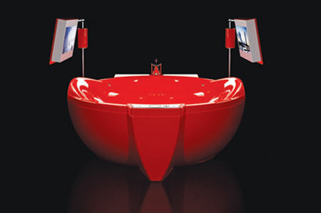 Hi-Tech Bathtub With Red Diamond Touch Invites Geeky Diva!