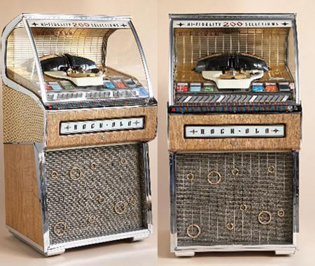 1957 rock-ola jukebox