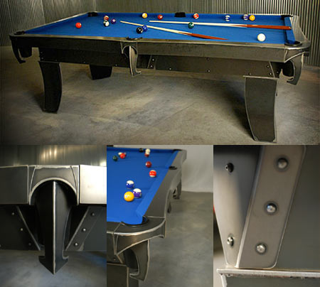 Daniel Romano Unveils Sculpted Steel Billiard Table