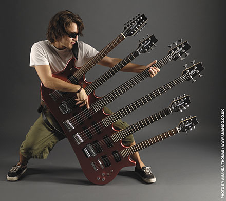 Limited Edition Six-Headed Guitar Is A Real Beast