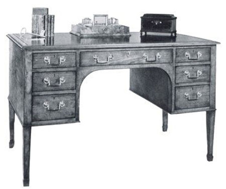 Sheraton Fruitwood Writing Table By Smith & Watson