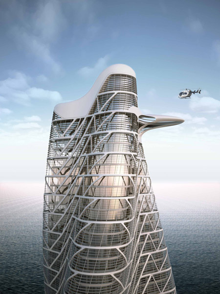 strata tower by asymptote3 Asymptote To Erect Strata Luxury Tower in Dubai by 2011
