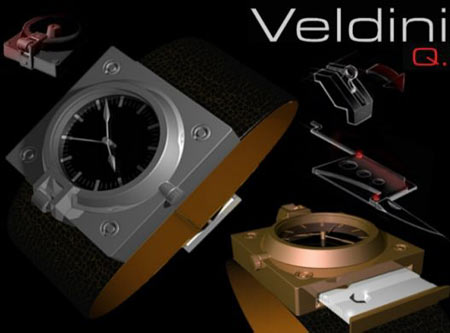 James Bond Inspired Veldini Q Wrist Watch